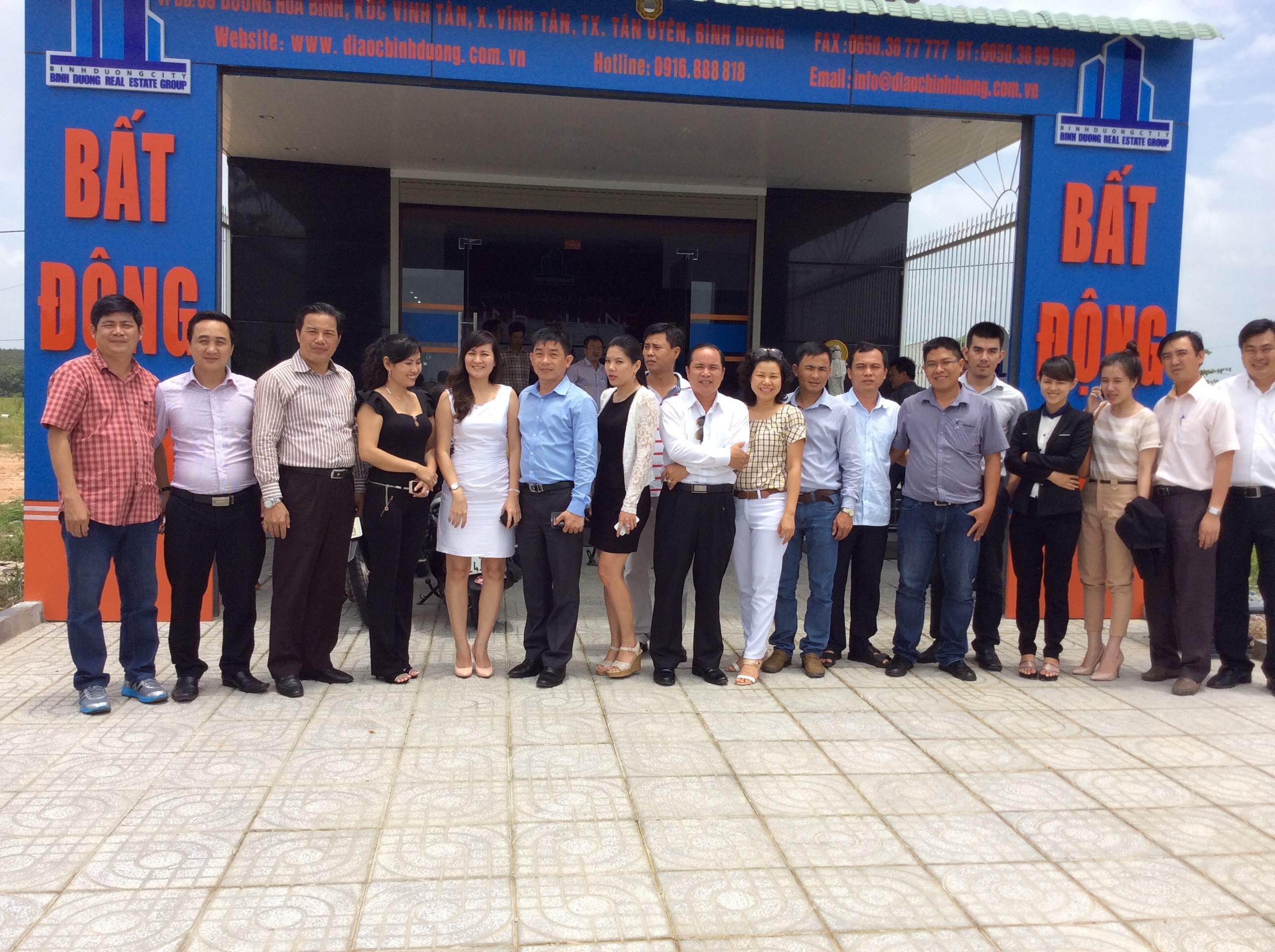 Hội Doanh Nhân Bình Dương thăm Công Ty CP Địa Ốc Bình Dương.